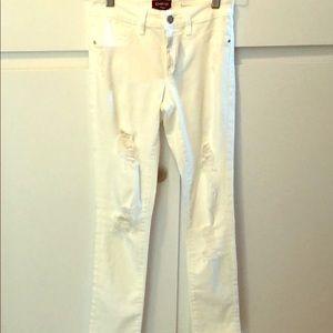 Bebe White Jeans